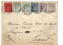 Gib006a / GIBRALTAR - Edward VII, Half Penny - One Shilling 1905 Nach Belgien - Gibraltar