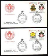 MALTE ( Ordre De ) - 1986 - Monogrames - 2 FDC - Voiage - Malta (la Orden De)