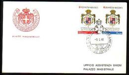 MALTE ( Ordre De ) - 1982 - Monogrames -  FDC - Voiage - Malta (la Orden De)