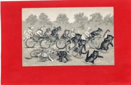 CHATS Humanisé--Course De Vélos---illustrateur  Louis WAIN---voir 2 Scans - Wain, Louis