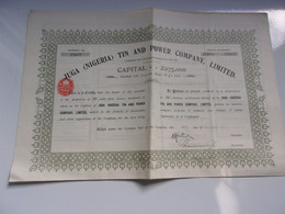 JUGA (NIGERIA) TIN AND POWER COMPANY (1911) - Unclassified
