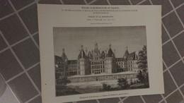 Affiche (dessin) -  Château De CHAMBORD Près De BLOIS - Manifesti
