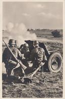 CARTE PROPAGANDE ALLEMANDE GUERRE 39-45 - PANZERABWEHRGESCHÜTZ IN FEUERSTELLUG - CANON ANTI-CHAR EN POSITION (N°1) - War 1939-45