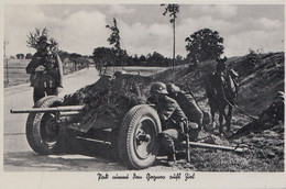 CARTE PROPAGANDE ALLEMANDE GUERRE 39-45 - PANZERABWEHRGESCHÜTZ IN FEUERSTELLUG - CANON ANTI-CHAR EN POSITION (N° 2) - War 1939-45