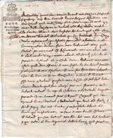 GENERALITE DE BOURGES Cher  LA MARQUE LA PLUS RARE Fleur De Lys Aout 1674 ( 4 Pages ) ...... Lettre Fiscale - ....-1700: Précurseurs