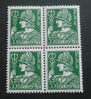 """1932 : Cob 340** X 4 : """" Cérès Et Mercure""""  ( Sans Charnière D5) Voir Verso - Unused Stamps"""