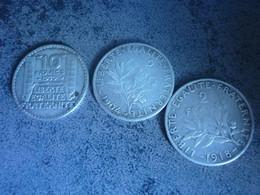 Lot De 3 Pieces Argent - I. 2 Francs