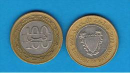 BAHRAIN -  100 Fils 1992     BIMETAL - Bahrain
