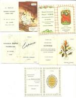 Lot 5 Calendriers Pub Parfums :Joli Soir, Espace, Années 1952  -62   63  64  66 - Modern (from 1961)