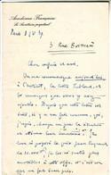 GEORGES GOYAU Secretaire Perpetuel De L' Academie Francaise , Superbe Lettre   AUTOGRAPHE ,  SIGNEE , 1939 - Autographs