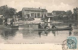 CHALONS SUR MARNE : LE BAC A COMPERTRIX SUR LA MARNE - Châlons-sur-Marne