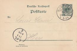 Allemagne Entier Postal Illustré Leipzig Ausstellung 1897 - Interi Postali