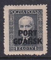 Port Gdansk 1929 Fi 20v Mint Hinged - Ocupaciones