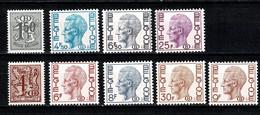 Belg. 1975/80 OBP/COB D / S  72/79**, 81** MNH - Dienstzegels