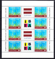 Latvia 1999 50Y Council Of Europe 1v Sheetlet ** Mnh (52701) - Idées Européennes