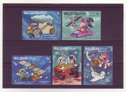 Maldives  -  Disney - 5 Timbres Différents - 273 - Malediven (1965-...)