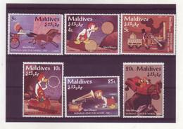 Maldives  -  Disney - 6 Timbres Différents - 274 - Malediven (1965-...)