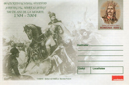 ROMANIA 2004: GREAT STEFAN OF MOLDAVIA 3 Unused Prepaid Covers 100/2004, 101/2004, 102/2004,  - Registered Shipping! - Entiers Postaux