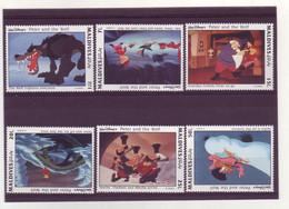 Maldives  -  Disney - 6 Timbres Différents - 281 - Malediven (1965-...)