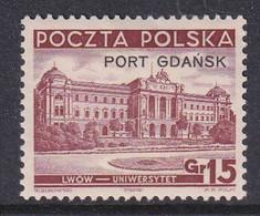 Port Gdansk 1937 Fi 30 Mint Hinged - Ocupaciones
