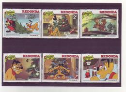 Redonda -  Disney -  6 Timbres Différents - 287 - Antigua E Barbuda (1981-...)