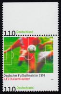 2010 Fußball Kaiserslautern - Verzähnung Mit Wertangabe Am Unterrand, ** - Engraving Errors
