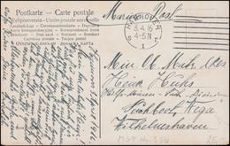 Marinefeldpost An Das Minen-Suchboot Wega In Wilhelmshaven, HANNOVER 3.4.1918 - Unclassified