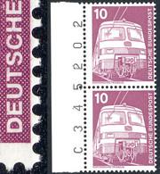 847 IuT 10 Pf - Paar Mit Randziffern, Zähnung Rechts Am Markenbild ** - Engraving Errors