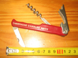 COUTEAU LIMONADIER CHAMPAGNE CHARLES PETIT  MAILLY - Alcools