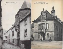 19 - CORREZE - MEYMAC - HOTEL DE VILLE ( édit.P.D. ) - Une Vieille Maison ( édit. Janicot ) - Autres Communes