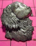 621 Pin's Pins / Beau Et Rare / THEME : ANIMAUX / TETE DE CHIEN EPAGNEUL Pin's En étain Pewter - Animali