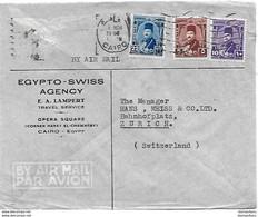 158 - 11 - Enveloppe Envoyée Du Caire En Suisse - Covers & Documents