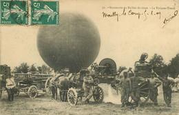 200621 - CPA 10 AUBE MAILLY LE CAMP THEME AVIATION 70 MANOEUVRE DU BALLON DE SIEGE LA VOITURE TREUIL 1909 MILITARIA - Mailly-le-Camp
