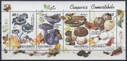ROMANIA 5005-5008,unused,mushrooms - Unused Stamps