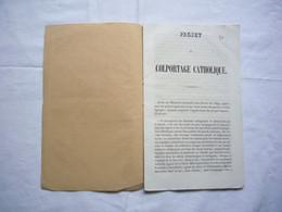 Projet De Colportage Catholique Rédigé Par L'abbé Bernard  En 1852 à Avignon 24 Pages - Religion & Esotericism