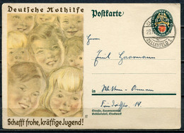 """German Empires,DR 1929 GS Nothilfe Mi.Nr.P 209 Mit  Tstp"""".Clausthal-Zellerfeld, Vom 10.1.30 """"1 GS Ungebraucht - Interi Postali"""