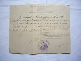 6ème Section D'infirmiers Militaire Certificat Hospitalisation D'Emile Bousquet Bar Le Duc 1918 - 1914-18