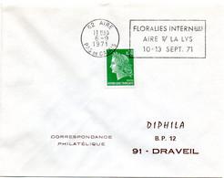 PAS De CALAIS - Dépt N° 62 = AIRE (sur La LYS) 1971 = FLAMME SECAP ' FLORALIES INTERNATIONALES ' - Annullamenti Meccanici (pubblicitari)
