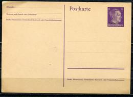 "German Empires,Ukraine1941 Kopfbild A.Hitler ,6 Pf. Violett Overprint GS Mi.Nr.P 2 ""overprint Ukraine""1GS Blanco - Interi Postali"