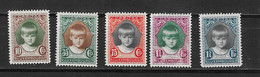 LUSEMBURGO Nº  214 AL 218 - 1921-27 Charlotte Frontansicht