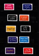 10 Timbres  Adhésifs  Oblitérés(2021) ( Croix-rouge Francaise)on Peut Le Faire Grace A Vous.(lettre Verte) - Sellos Autoadhesivos
