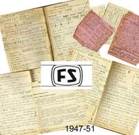 Corso Istruzione Controllore Conduttore FS Ferrovie Dello Stato-Biglietti Personale Viaggiante Genova 1947 - Altri