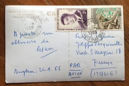 CAMBOGIA  - CAMBODGE - POST CARD FROM ANGKOR WAT  TO FIRENZE - ITALY - Mundo