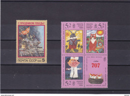 URSS 1989 Yvert 5619 + 5632-5634 NEUF** MNH - Ongebruikt