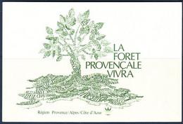 Carte Postale Pétition Pour Sauver La Forêt Provençale - Fin Des Années 1970 - Alberi