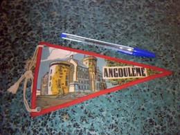 Fanion En Tissu Imprimé Ville & Armoiries D'Angoulême - Scudetti In Tela