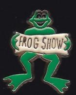 71490-  Pin's-série Frog Show Sur Canal+.Grenouille.médias.télévision. - Animali