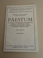 ITALIE - P. C. Sestieri - Palestum - Ville, Nécropole Préhistorique De Gaudo - Sanctuaire De Hera Argiva - 1967 - - Archeology