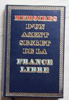 Livre Seconde Guerre 1944 Mémoires D'un Agent Secret De La France Libre Tome 6 Remy 1961 - War 1939-45