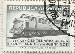 PIA - ARGENTINA - 1957 : Francobollo Di P.A. - Centenario Delle Ferrovie Argentine - (Yv P.A 47 ) - Used Stamps